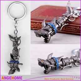 Wholesale Lol Keychains - League of Legendes Jinx cannon LOL Keychain Metal Key Rings For Gift Key chain Jewelry for car