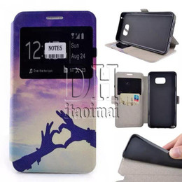 Wholesale Transparent Coloured Iphone Cases - Flip Case Coloured Drawing Wallet Money Pocket Canvas With Card Case For iPhone 5s 6 Plus Galaxy S5 S6 Edge Note4 Note5 DHL