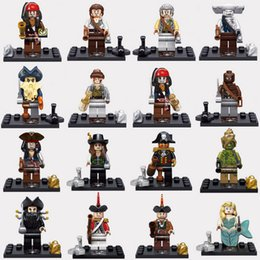 Wholesale Pirate Toy Box - legos minifigure set of 8 mermaid Kids block toy without reatail box mermaid Pirates of the Caribbean wholesale lot DHLink freeshipping