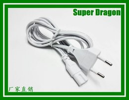 Wholesale Ac Line Cords - New Arrival white EU 2-Prong VDE plug power line Laptop AC Adapter Power Cord Cable Lead 2 Pin Black 1.5m wholesale