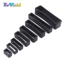 Wholesale Leather Belt Loops - 100pcs lot Plastic Black Keeper Belt Loop Square Loop Leather Craft 8 Sizes