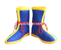 Wholesale Dragon Ball Costume Cosplay - Wholesale-Dragon Ball Cosplay Son Goku Men's Shoes Dunk High Short Boots