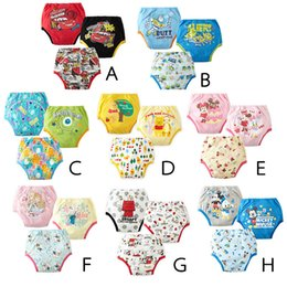 Wholesale Green Infant Diapers - 8 Design baby potty training pant diaper panties for infant waterproof underwear briefs size 90-95-100