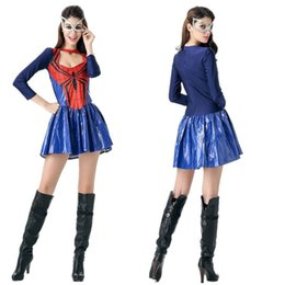 Wholesale Free Role Playing - Halloween superhero spider-man Cosplay role-playing heroine stage costumes photography service