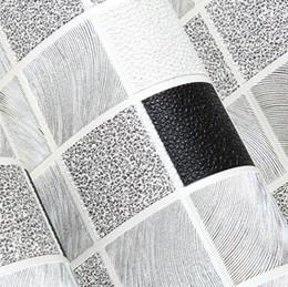 Wholesale Green Soundproofing - Wholesale- mosaic designs waterproof pvc bathroom wallpaper deep embossed pvc wall covering