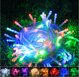 Wholesale Twinkling White Stars Decorations - Hot Selling 8Colors 100M 600 LED Lights Party Lights Led Christmas Lights Outdoor Decoration Party Twinkle String Lights 220V EU