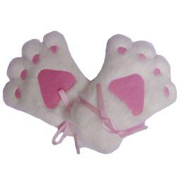 Trajes de animales hechos a mano online-Guantes de garra de oso de felpa de piel sintética unisex hechos a mano de la felpa