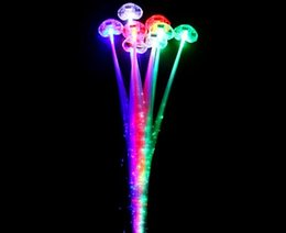Wholesale Bright Party Supplies - Colorful Butterfly LED Braided Fiber Braid Flash Bright Party Supplies Luminous headwear Festive Supplies Luminous braid 50pcs lot
