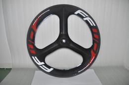 Wholesale Fix Gear Wheels - FFWD Three spokes 3 spokes Carbon fiber clincher bike wheelset 700c bicycle wheels fixed gear hub