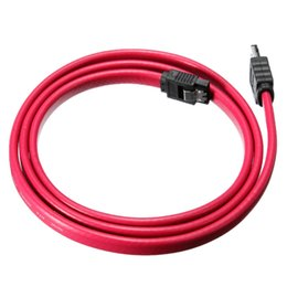Wholesale Esata Sata Cable - Hihg Quality 1M 3Ft eSATA to SATA Cable Serial ATA External SATA Cable Adapter 7 Pin Male Convertidor Adaptor Shielded Cable