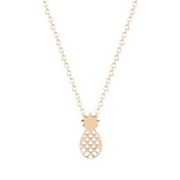Wholesale Copper Fruit - 10pcs lot New Style Pineapple Necklace Chocker Fruit Necklace For Women 2016 Pineapple Chocker Necklace ZA Collier Free Shipping