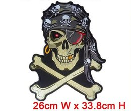 Wholesale Can Coolers - biker motorcycle patches computer embroidered big size cool patcg iron on embroidery factory in china can be custom