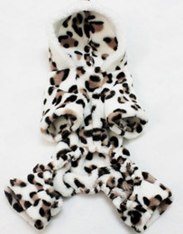 Wholesale Hooded Wedding Dresses - Free Shipping Fashion Warm Fleece Pet Dog Clothes Hooded Coat Leopard Costume Sweater Clothing for Small Dog Chihuahua Yorkshire poodle