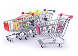i carrelli della spesa del supermercato Sconti artwares Cute Cart Porta cellulare Portapenne Mini supermercato ufficio Handcart Shopping Utility Carrello porta penna strumento di moda