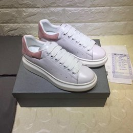 Wholesale Shoe Inside - 2017 9.28 free shipping new fashion designer high quality come whith tags cowleather inside women casual shoes 34-40