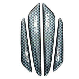 Wholesale Car Engines - 4pcs carbon fiber Car Styling Door Decoration Strip General Car Crash Bar Anti-Rub Protection Stickers Accessories HA10697