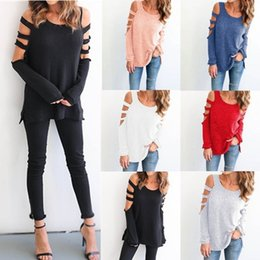 Wholesale New Necklace Jacket - New Women's Round Neck Round Necklace Unique Sleeves Loose Long-sleeved Clothes Open Fork Leisurely Loose Jacket