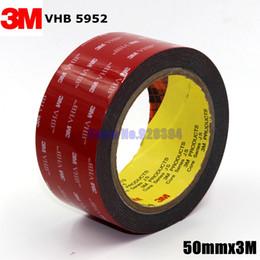 Wholesale Heavy Duty Adhesive - Wholesale-3M VHB 5952 Black Heavy Duty Mounting Tape Double Sided Adhesive Acrylic Foam Tape 50mmx3Mx1.1mm