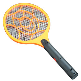Wholesale Mosquito Fly Swatter - 3 Layers Net Dry Cell Hand Racket Electric Swatter Home Garden Pest Control Insect Bug Bat Wasp Zapper Fly Mosquito Killer