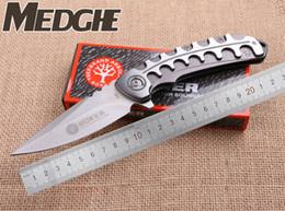 Wholesale Dragon Handle - MEDGE BOKer F86 Dragon Bone Keel Flipper Spear Point Folding Satin Blade Knives Brushed Handle EDC knife Camping Hunting Tactical Knives