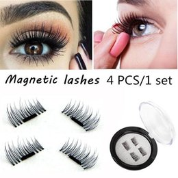Wholesale Eyes Extension Set - Magnetic Eye Lashes 3D Mink Reusable False Magnet Eyelashes Extension 3D Eyelash Extension Magnetic Eyelashes 4pcs set