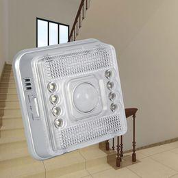 Wholesale Pir Detector Wireless - Wireless Infrared 8 LED Motion Sensor Wall Light Wireless Infrared Home Indoor Outdoor PIR Auto Sensor Motion Detector LED Light Lamp