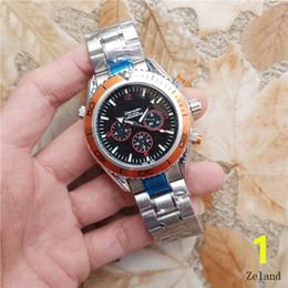 Wholesale Gentleman Watches - Swiss OME LOGO Men's Watches 39mm 6 needle Full function High quality classics luxury watch Relogio Atmosphere gentleman men watch AAA