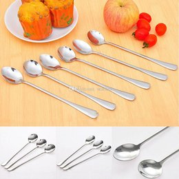 Wholesale Dining Spoons - New Stainless Steel Spoon Creative Style Design Sugar Coffee Scoops Hot Cookware Gift Kitchen Dining Bar Tool Free Shipping WX-C02