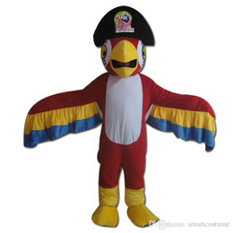 Wholesale Mascots Costumes Parrot - SX0723 With one mini fan inside the head a red parrot mascot costume for adult to wear for sale