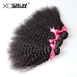 Wholesale Mongolian Remy Hair Sale Cheap - Free Shipping!Wholesale 4Pcs cheap Unprocessed 7A Brazilian Virgin Human Hair Weaves Afro kinky curly on sale Remy Hair Dyeable