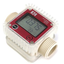 Wholesale Digital Water Flow - High Quality Pro K24 Digital Fuel Flow Meter for Chemicals water random color New Arrival