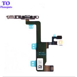 2019 iphone botão botão volume Novo botão de energia em off flex cable para iphone 6 6g 6 plus mudo interruptor de volume do conector da fita peças iphone botão botão volume barato
