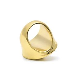 2019 anéis de ouro topázio rosa Hip Hop Medusa Anéis 24 K Banhado A Ouro Tideway Para Homens Tamanho 8 9 10 HQ