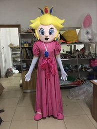 Wholesale Super Mario Costume Make - high quality Peach mascot costume princess mascot costume Super Mario mascot costume Peach costume for sale