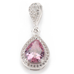 Wholesale Wholesale Asian Products - Copper Rhodium Plated Recommend Pendants Pink Cubic Zirconia Noble Generous MN3228 Explosion models Best Sellers Promotion The new product