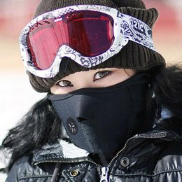 Wholesale Mask Protector - Winter Cycling Face Mask Outdoor Driving Windproof Mask Riding Bicycle Face Protector Skiing Fleece Warm Half Face Covering Masks