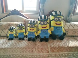 Wholesale Despicable Stuffed - Minions 35 45 55cm Despicable Me Stuffed Animals Plush Toys 3D Stereoscopic Glasses October New Arrvial Hot Sale Birthday Gift Free Shipping