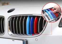 Wholesale front exterior -     Tricolor Front Grille decoration covers strips ABS trim Car exterior accessories for BMW 7 series 2012-17