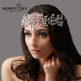 Wholesale Bridal Forehead - Angel Rhinestone Wedding Hair Accessories Tiaras Crown Bridal Jewelry ,Wedding Forehead Hair Accessory