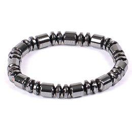 Wholesale String Wrap Bracelet - Hand Strings Nature Hematite Black Bracelet Necklace 6MM 8MM Beads Barrel Beaded Magnetic Therapy Bracelet Wrist Wrap for Sports Men Women