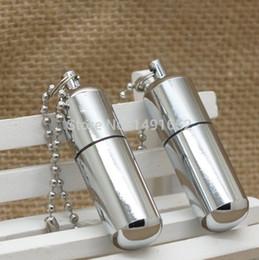 Wholesale Miniature Keys - Wholesale-High Quality 2 PCS Lot The Super Mini Oil Lighter miniature small oil machine key chain pocket wheel kerosene