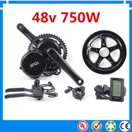 Wholesale Electric Drive Motor Bike - Bafang BBS02 48V 750W Ebike Motor with C965 LCD 8FUN mid drive Electric Bike conversion kits