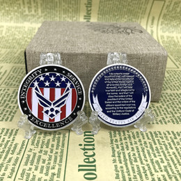 Wholesale Art Service - United States Air Force Integrity Service Excellence Oath Of Enlistment Honor Military Soft Enamel Painting Challenge Coin For Sale
