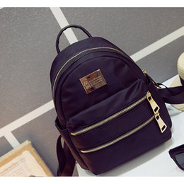 Wholesale Trade Backpack - Fashion Bags BLACK Rucksack Waterproof Canvas Backpack Style travel casual shoulder bag foreign trade package free shipping