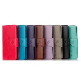 Wholesale leather case for zte - Strap Wallet Leather Pouch Case For Samsung Galaxy A8 2018 Google Pixel XL Sony X Compact ZTE Zmax Pro Z981 Stand Flower Butterfly Cover 1pc