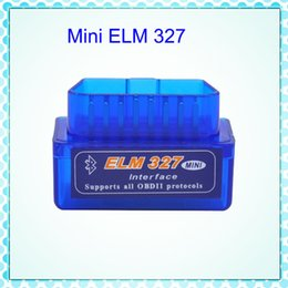 Wholesale Obd2 Elm327 Bt - Super Mini ELM327 Bluetooth Interface V2.1 OBD2 Auto Diagnostic-Tool ELM 327 Works ON Android Torque PC v 2.1 BT adapter