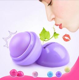 Wholesale Lip Balm Sphere - 6colors 3D Lip Ball balm Lipstick Moisturizing Natural Plant Sphere lip Pomade Fruit Embellish Lip Care