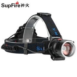 Wholesale Portable Led Head Light - SupFire HL08 led head lamp use 3*AA rechargeable nimh battery CREE LED light climbing portable headlamp headlight