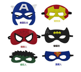 Wholesale Kids Fedex Costume - DHL or Fedex costume Party masks halloween cosplay masks kids superman captain america batman felt mask for cartoons 100 styles