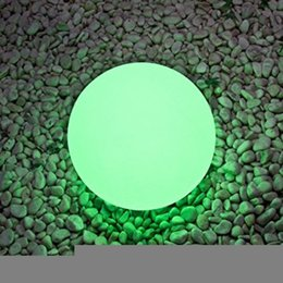 Wholesale Waterproof Swimming Pool Ball - IP68 Waterproof RGB LED Floating Ball illuminated swimming pool ball light USB Rechargeable Led Night Light With Remote